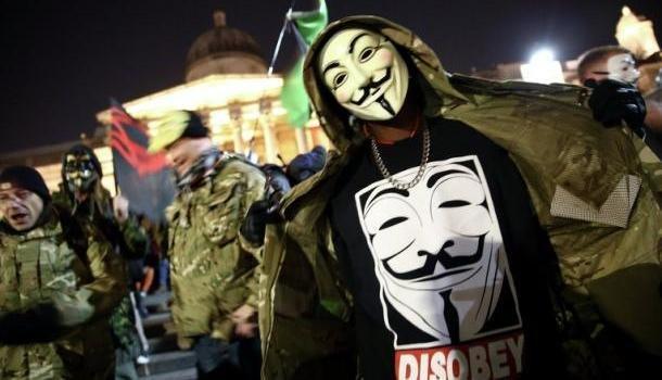 Встолице Англии задержали 18 участников «Марша млн масок»