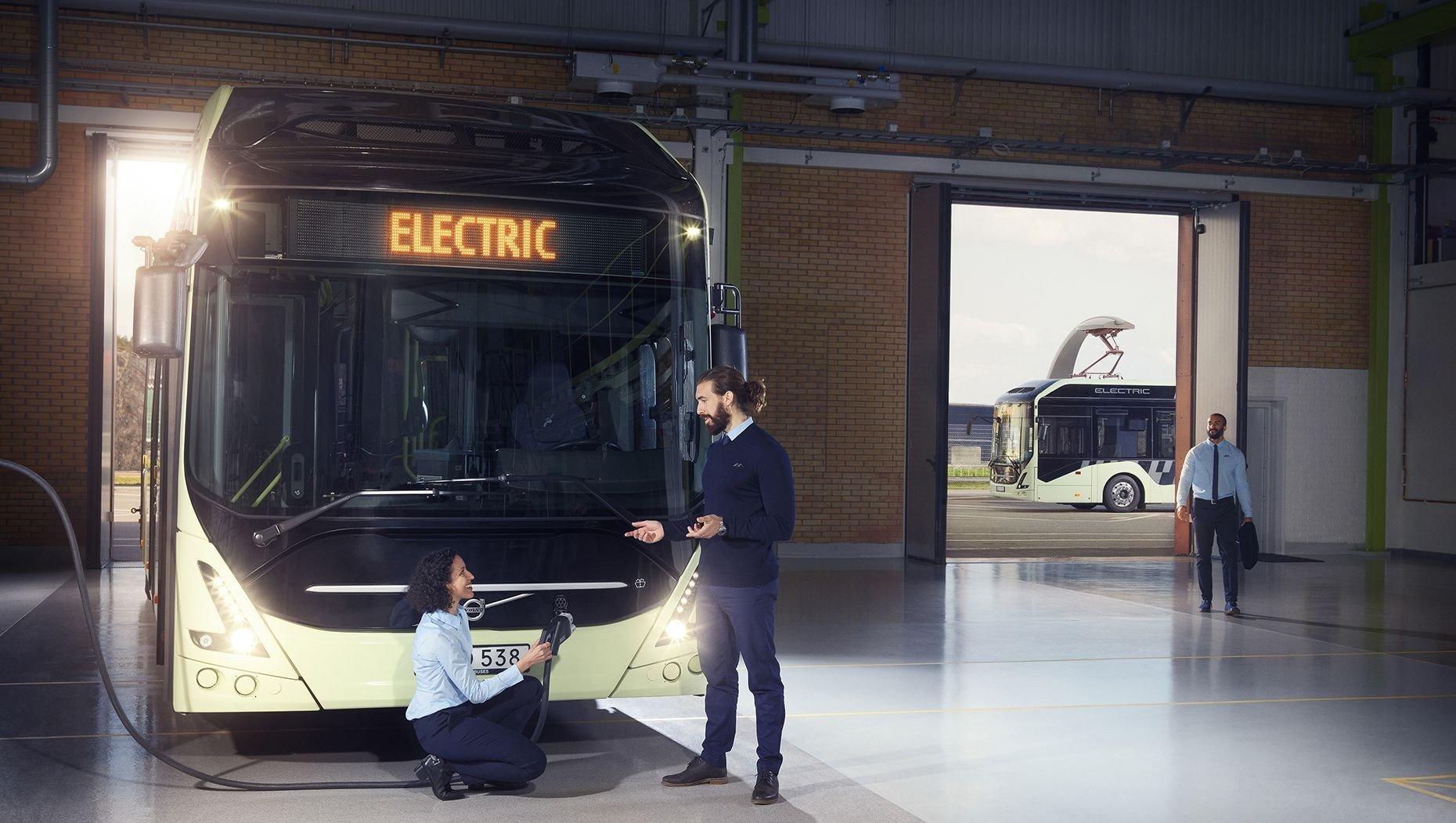 Вольво  презентовала электрический автобус Вольво  7900 Electric