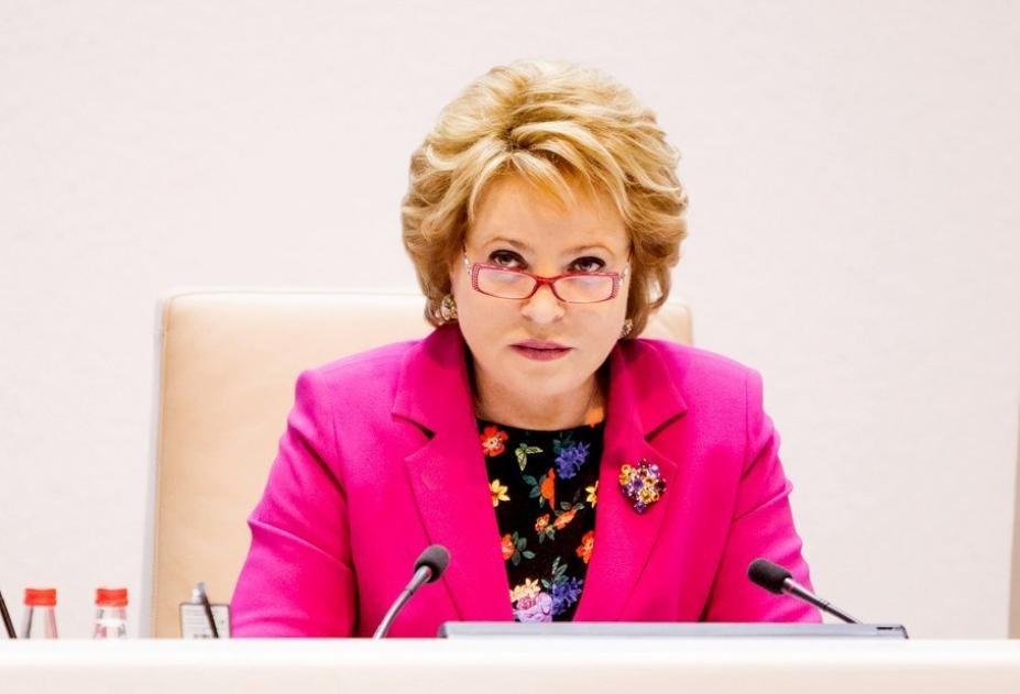 Матвиенко назвала аварией возможный разрыв дипотношений с государством Украина