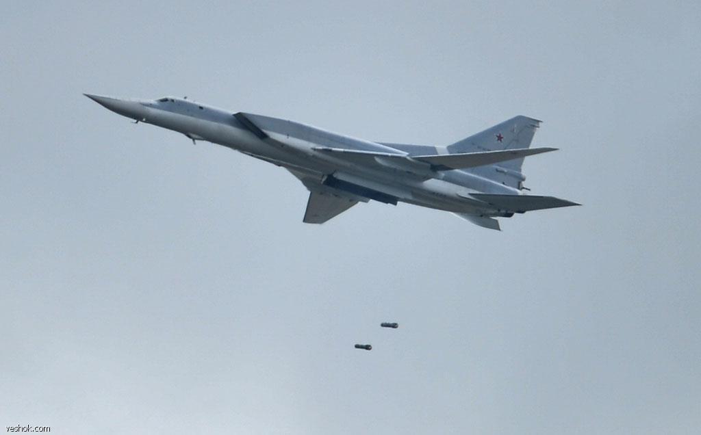 Минобороны обнародовало видео авиаудара Ту-22МЗ по боевикам в Сирии