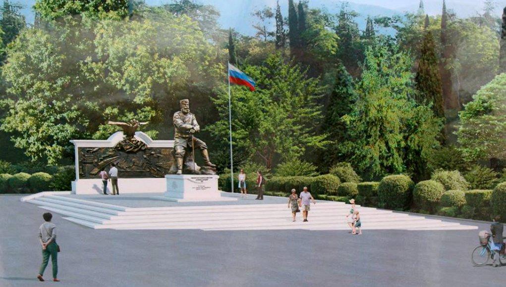 Путин присутствовал при открытии памятника Александру III в Ялте