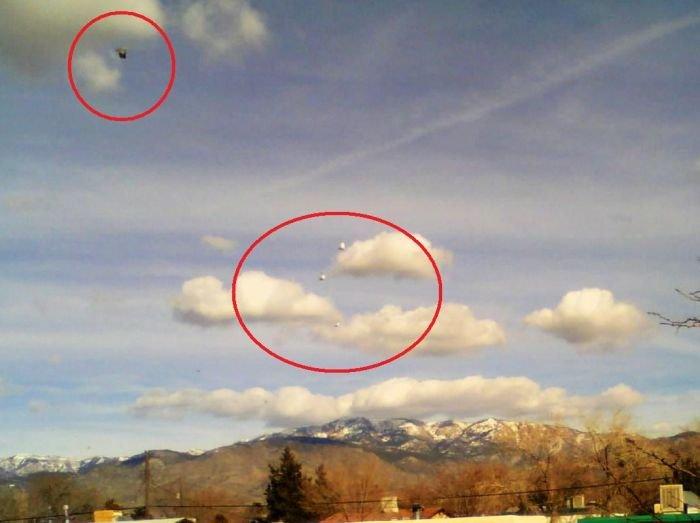Очевидцы сняли как НЛО заметает следы за собой
