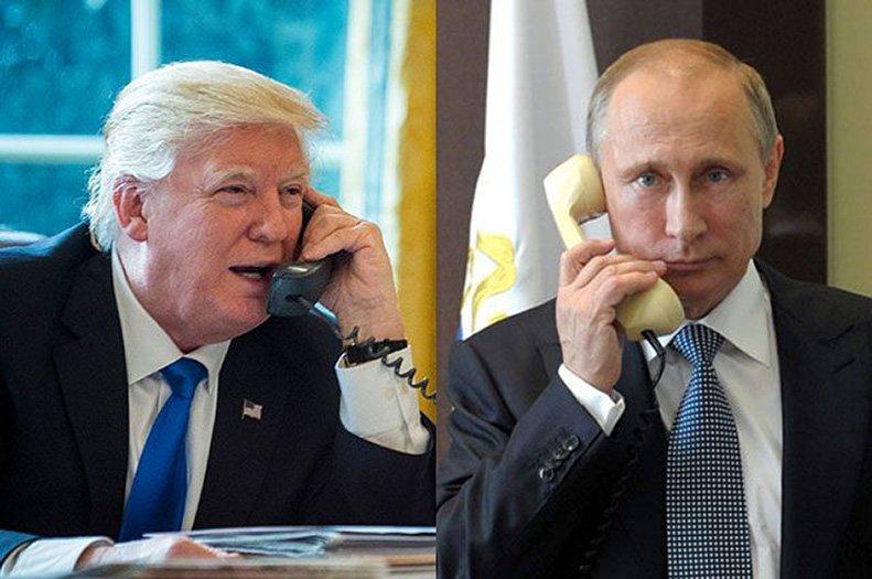 Путин примерно час беседовал с Трампом по телефону
