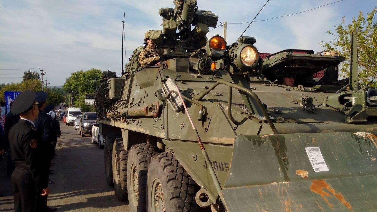 ОБСЕ: в Луганск вошла колонна военной техники