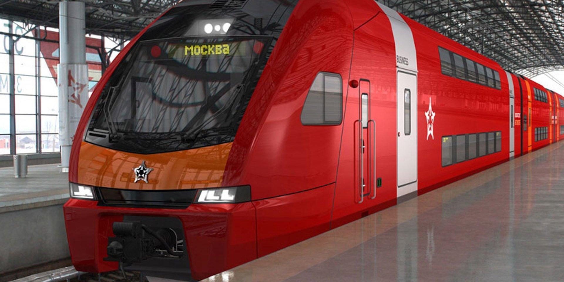 ВДомодедово пустили двухэтажные «Аэроэкспрессы»