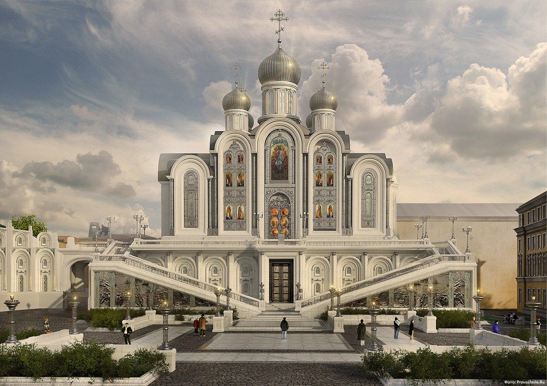 Ресин проверил ход возведения нового храма в столице России