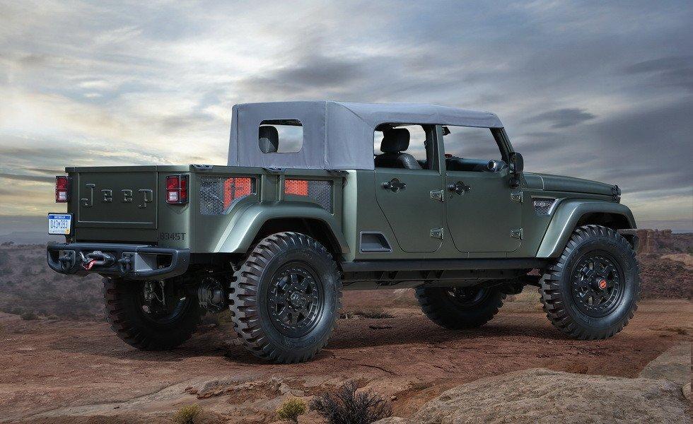 Пикап Jeep Scrambler получит опциональную мягкую крышу