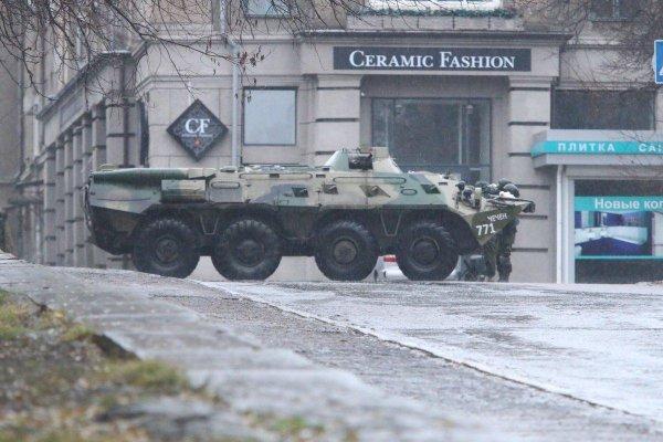 ОБСЕ обнародовала фото военной техники в центре Луганска