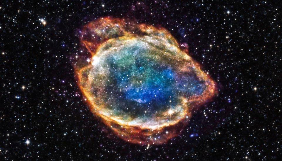Втемном омуте: NASA показало редчайший снимок взрывной галактики ESO 580-49