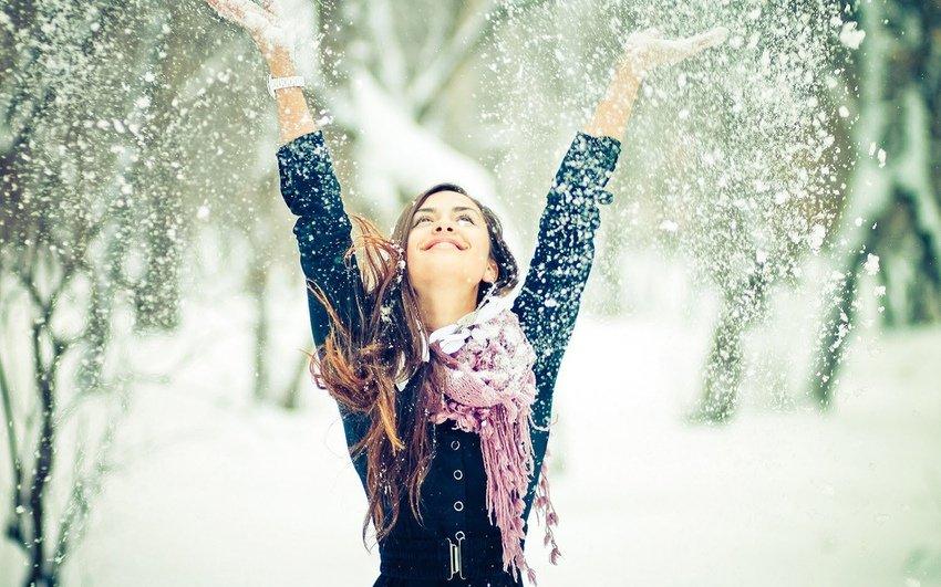 Житель америки несмог утаить радости поповоду снега