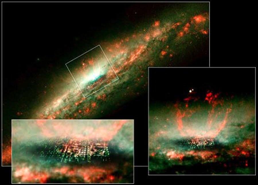 «Обитель Бога» вцентре Вселенной нашел исследователь при помощи снимков телескопа «Хаббл»
