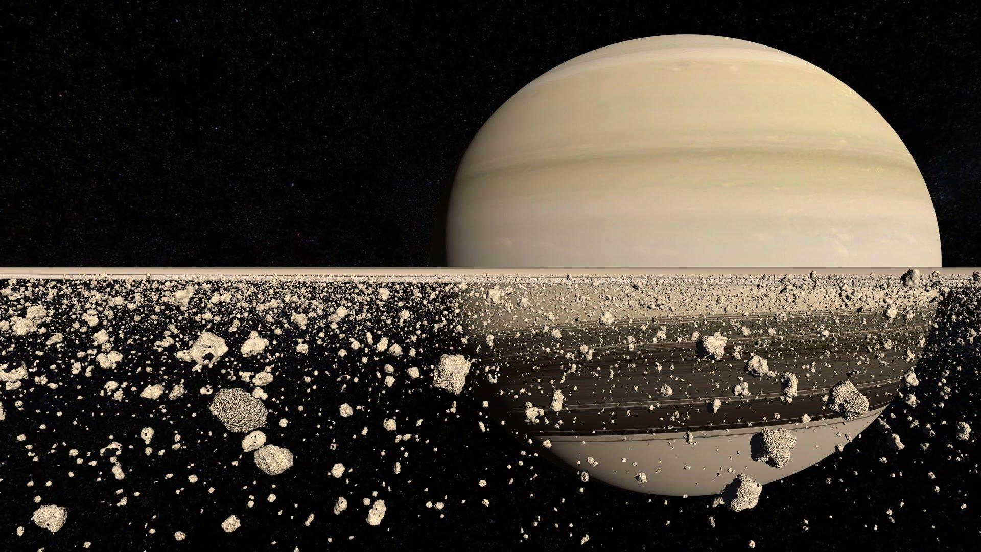 Кольца Сатурна значительно моложе планет Солнечной системы— Данные Cassini