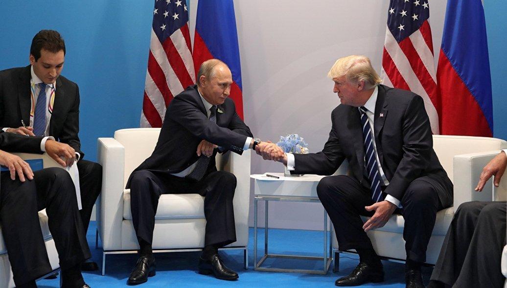 Владимир Путин поблагодарил Дональда Трампа запомощь впредотвращении теракта в северной столице