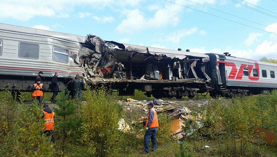 ВЧувашии поезд столкнулся с грузовым автомобилем