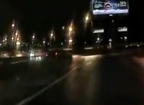 Появилось видео вылета пьяного водителя с развязки в Санкт-Петербурге
