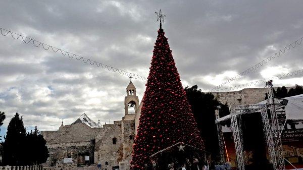 В Вифлееме из-за решения по Иерусалиму потушили рождественскую елку