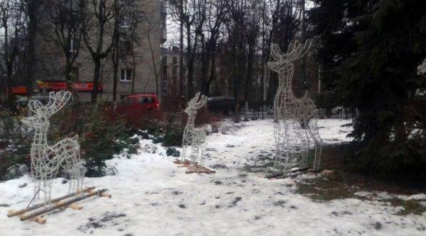 С площади в Пушкино украли сказочного оленя