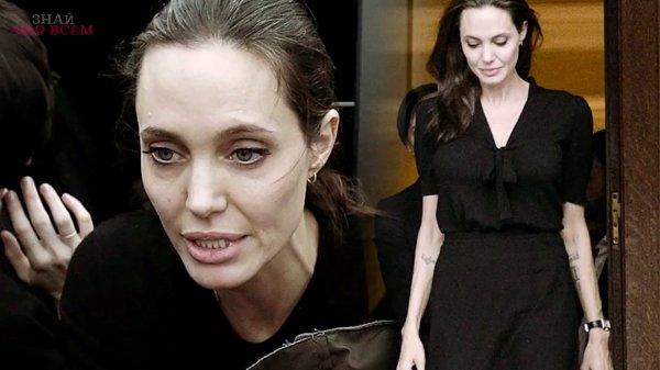 Впалые щеки, острые скулы: от Анджелины Джоли осталась одна тень