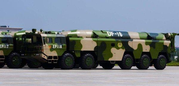 Китай провел испытания баллистической ракеты с гиперзвуковым глайдером