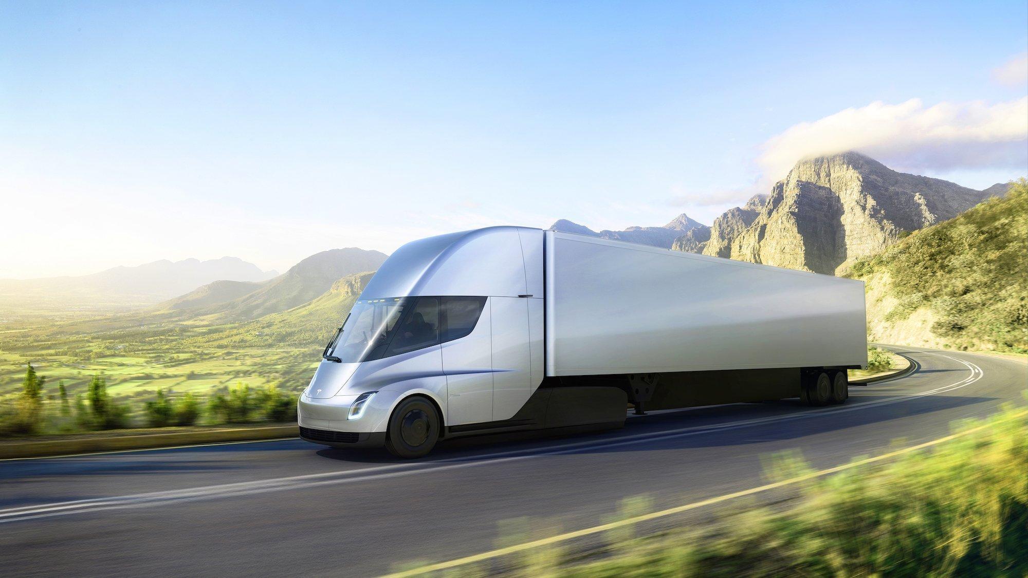 Tesla начала прием заказов наэлектрический грузовой автомобиль Tesla Semi вевропейских странах