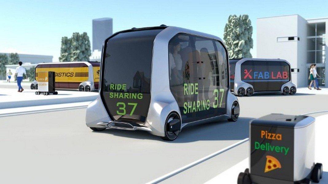 На CES 2018 показали беспилотную платформу Toyota e-Palette