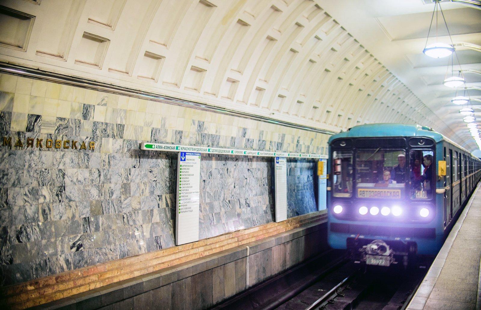 Сбой вдвижении поездов произошел на«салатовой» ветке метро столицы