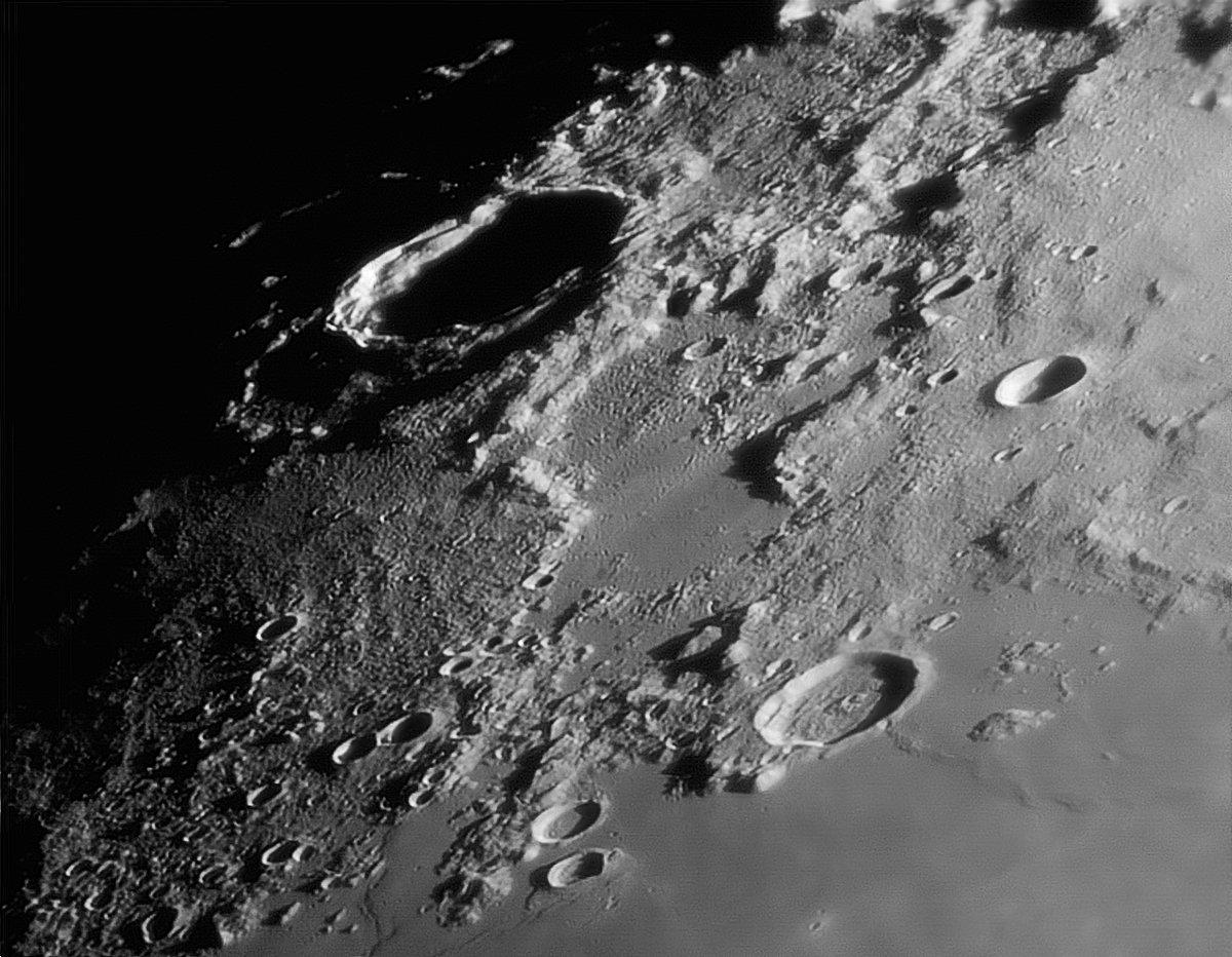 Насеверном полюсе Луны найдены  следы потухших вулканов