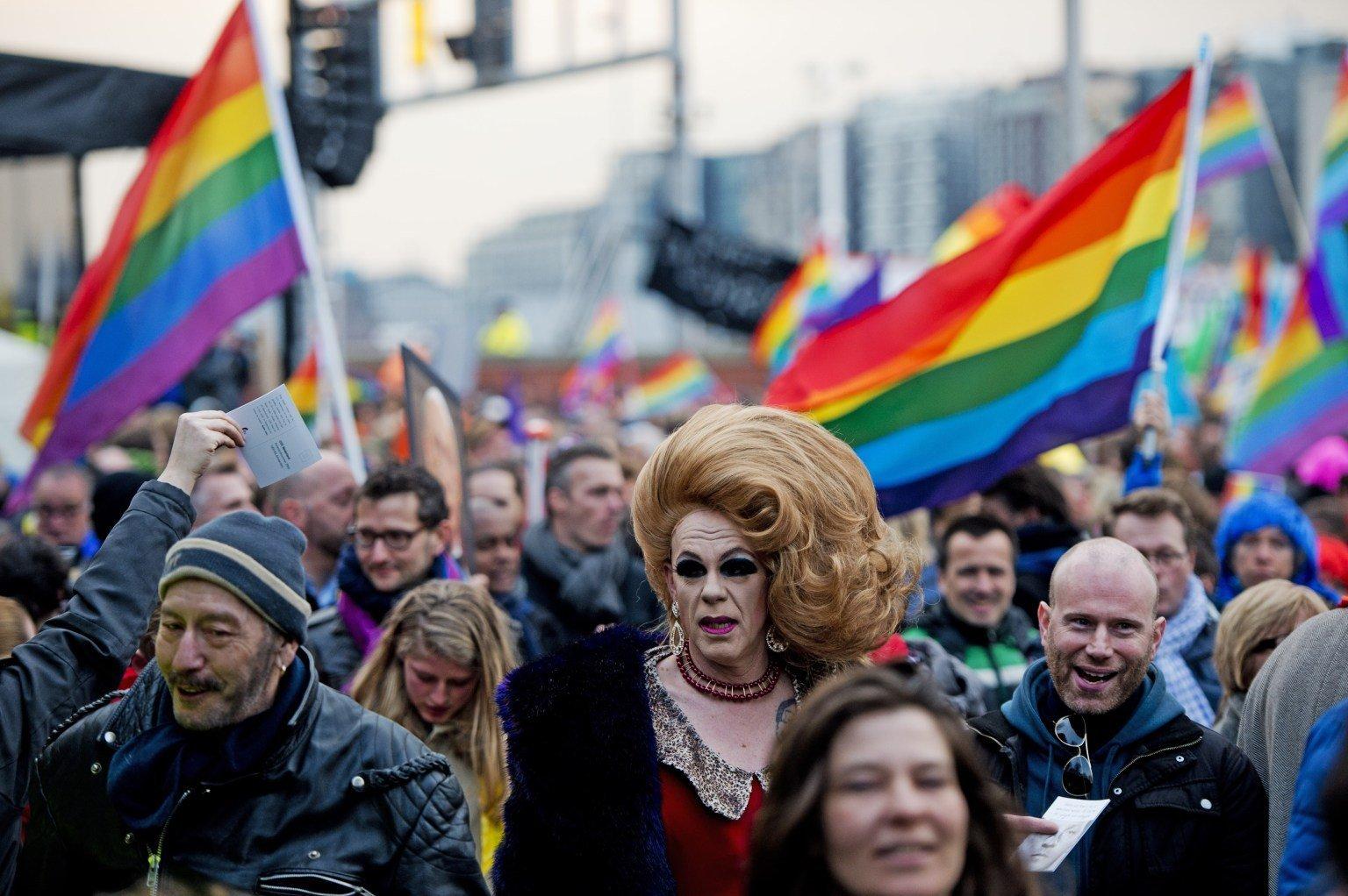 Секс меньшинства на митинге в декабре