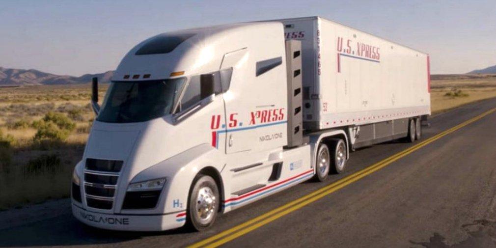 Компания Nikola показала 1000-сильный водородный грузовой автомобиль вдвижении
