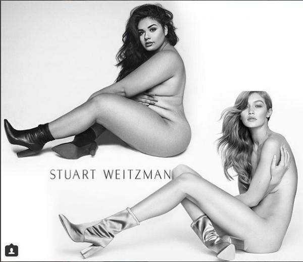 Обнаженную модель plus-size обозвали «грудой жира» из-за пародии на Джиджи Хадид