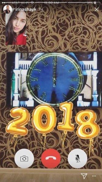 Ирина Шейк отметила Новый год по-русски