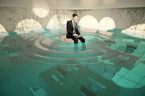 Один из офисов в Уфе затопило экскрементами