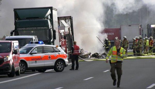 Из-за массового ДТП в Баварии пострадали 18 человек