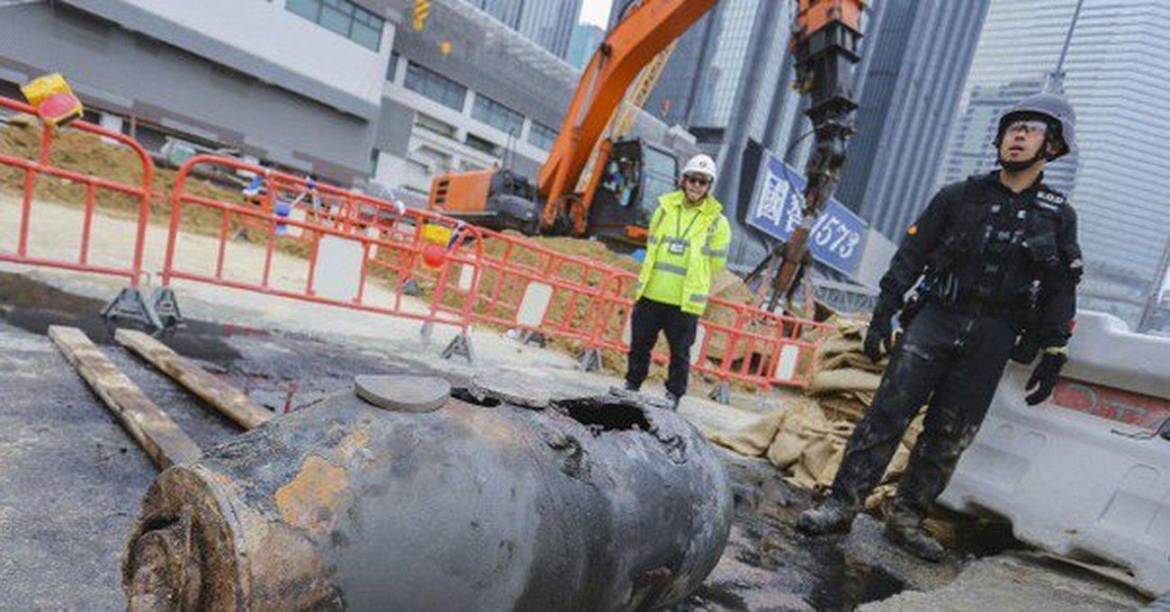 ВГонконге найдена еще одна крупная бомба времен войны