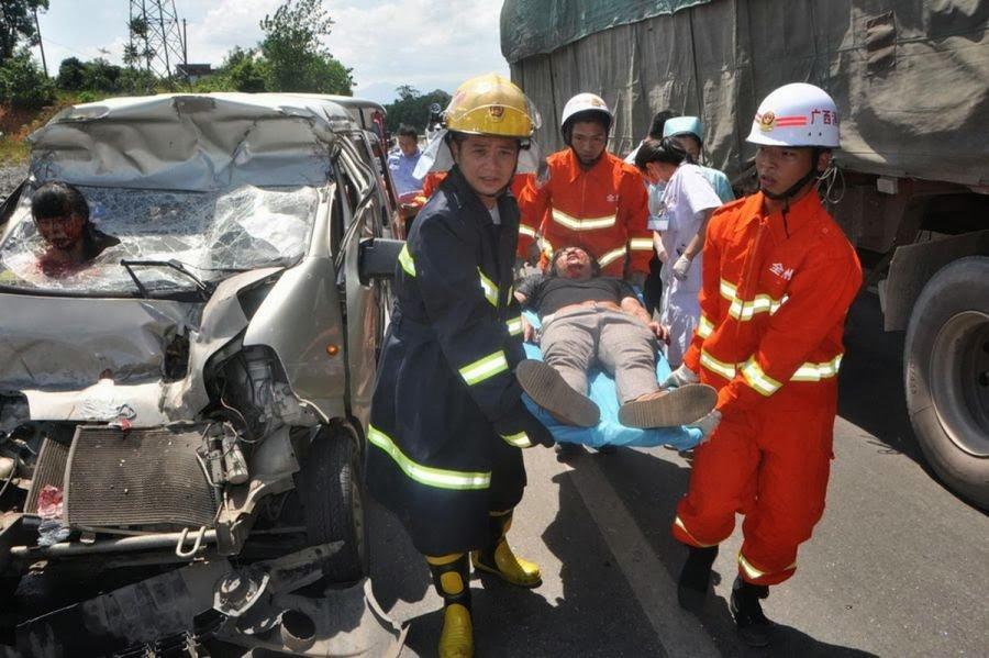 Масштабное ДТП в КНР : Столкнулись неменее  50 авто