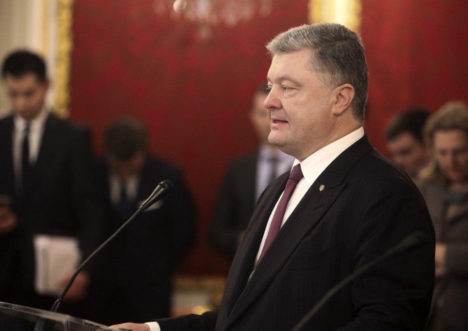 Около  дома Порошенко украли «столб позора»