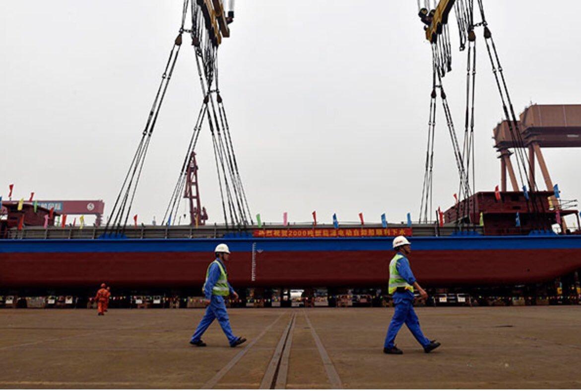 Вкитае грузовое судно затонуло после столкновения спассажирским
