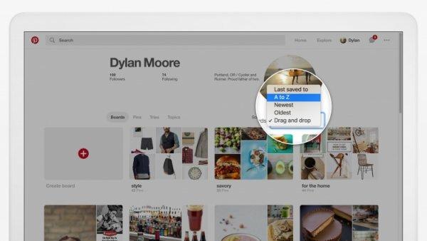 В Pinterest добавили новые функции для досок и пинов