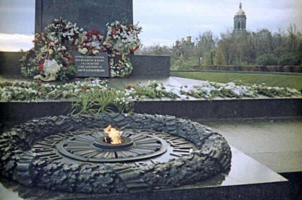 Жарившая яичницу на «Вечном огне» девушка получит от Киева 4 тысячи евро