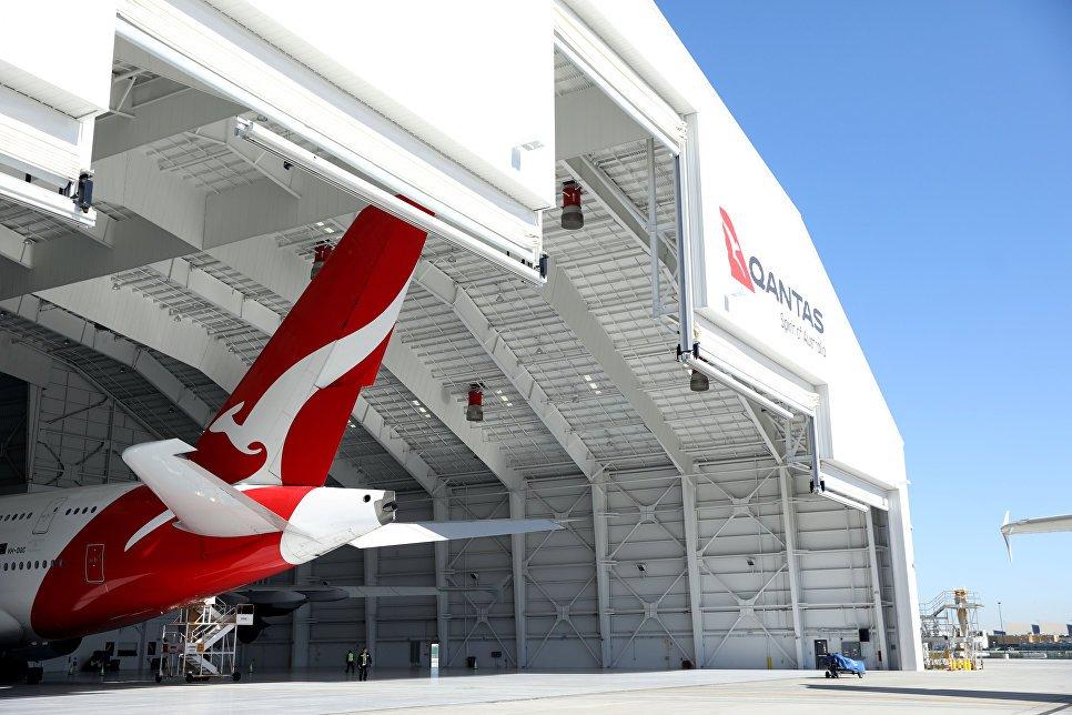 Самолет Qantas совершил 1-ый беспосадочный перелет изАвстралии в великобританию