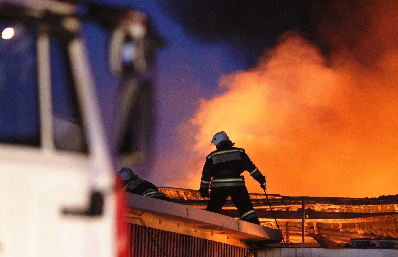 Вжилом доме вцентре Ростова-на-Дону начался пожар