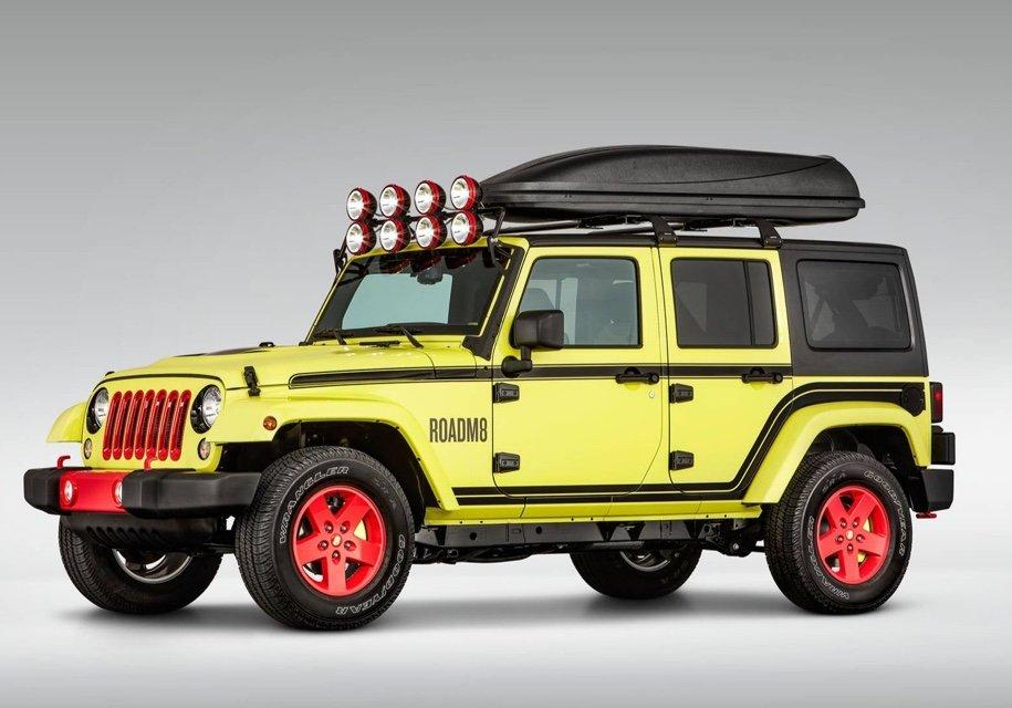 Jeep Wrangler превратили вгостиничный номер