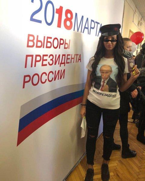 Под пение и аплодисменты: Звезды пришли на выборы президента