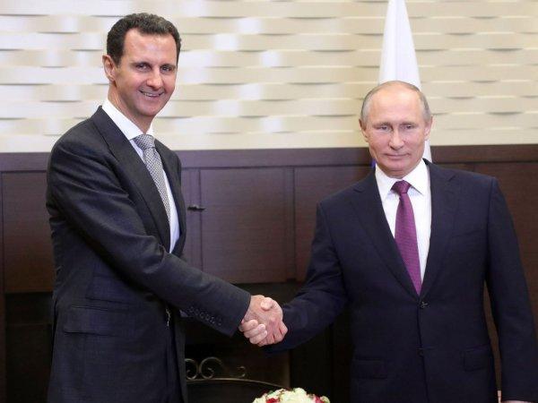 Президент Сирии поздравил Путина с победой на президентских выборах