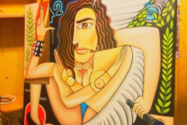 Художник из Нижнекамска изобразил Бузову с шестью руками