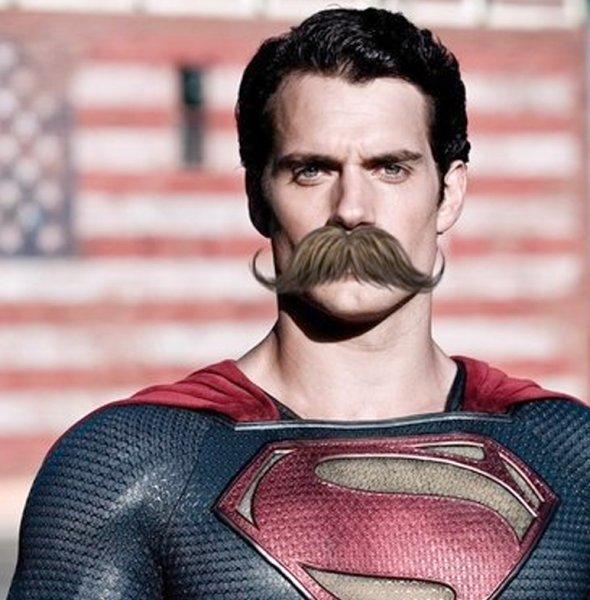Исполнитель роли Супермена сбрил самые дорогие усы в истории кино
