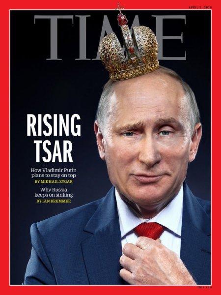 Владимир Путин попал на обложку Time под лозунгом