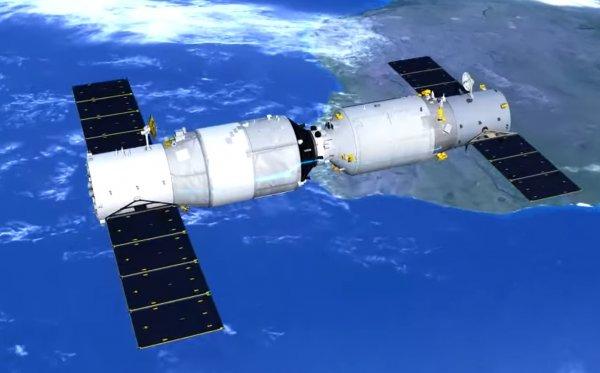 Китайский спутник «Тянгун» сгорит в небе над Крымом