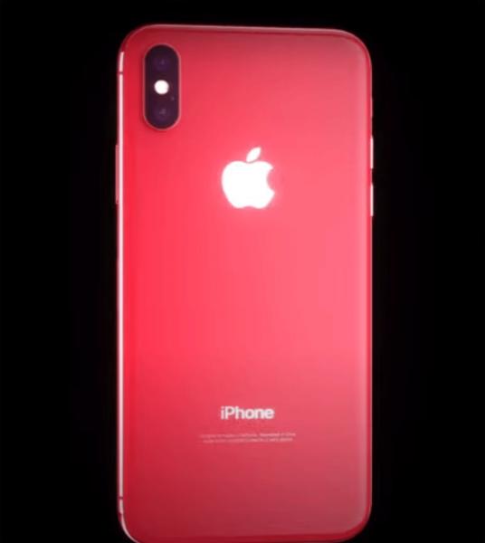 В Сети появилось видео с красным iPhone X