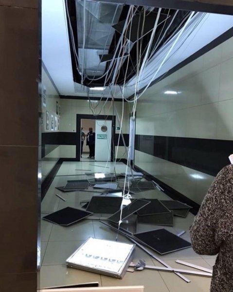 В ТЦ Ставрополя рухнувший потолок посеял панику